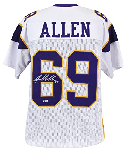 wholesale dealer 10271 0153c Autographed Jared Allen Jersey - White BAS Witnessed ...