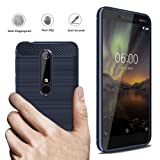 Nokia 6.1 Case, Nokia 6 2018 Case, Dretal Carbon