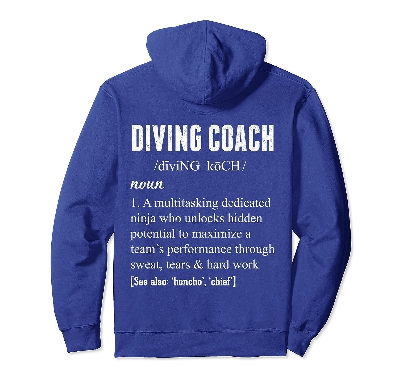 Diving Coach Definition Hoodie Coach Appreciation Gift-mt