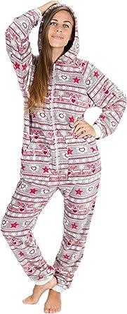 Kajamaz Sueño de Navidad Go-Jamz Pijama De Una Pieza De Lana para Mujeres, Pijama De Lana Entero