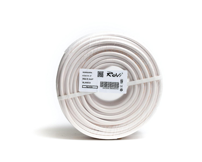 Cable H05VV-F Manguera 3x2,5mm 50m (Negro): Amazon.es: Bricolaje y ...