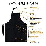 Under NY Sky No-Tie Barber Black Apron – Coated