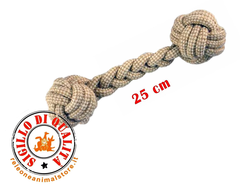 Juegos cuerda natural para perros doble pelota iMac 25 cm: Amazon ...