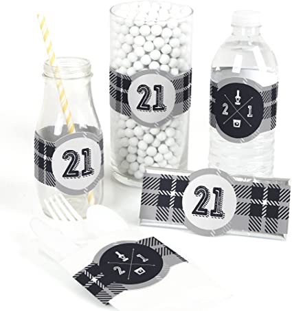 Set of 15 21st Birthday Finally 21 Girl Birthday Party DIY Wrapper Favors /& Decorations DIY Party Supplies