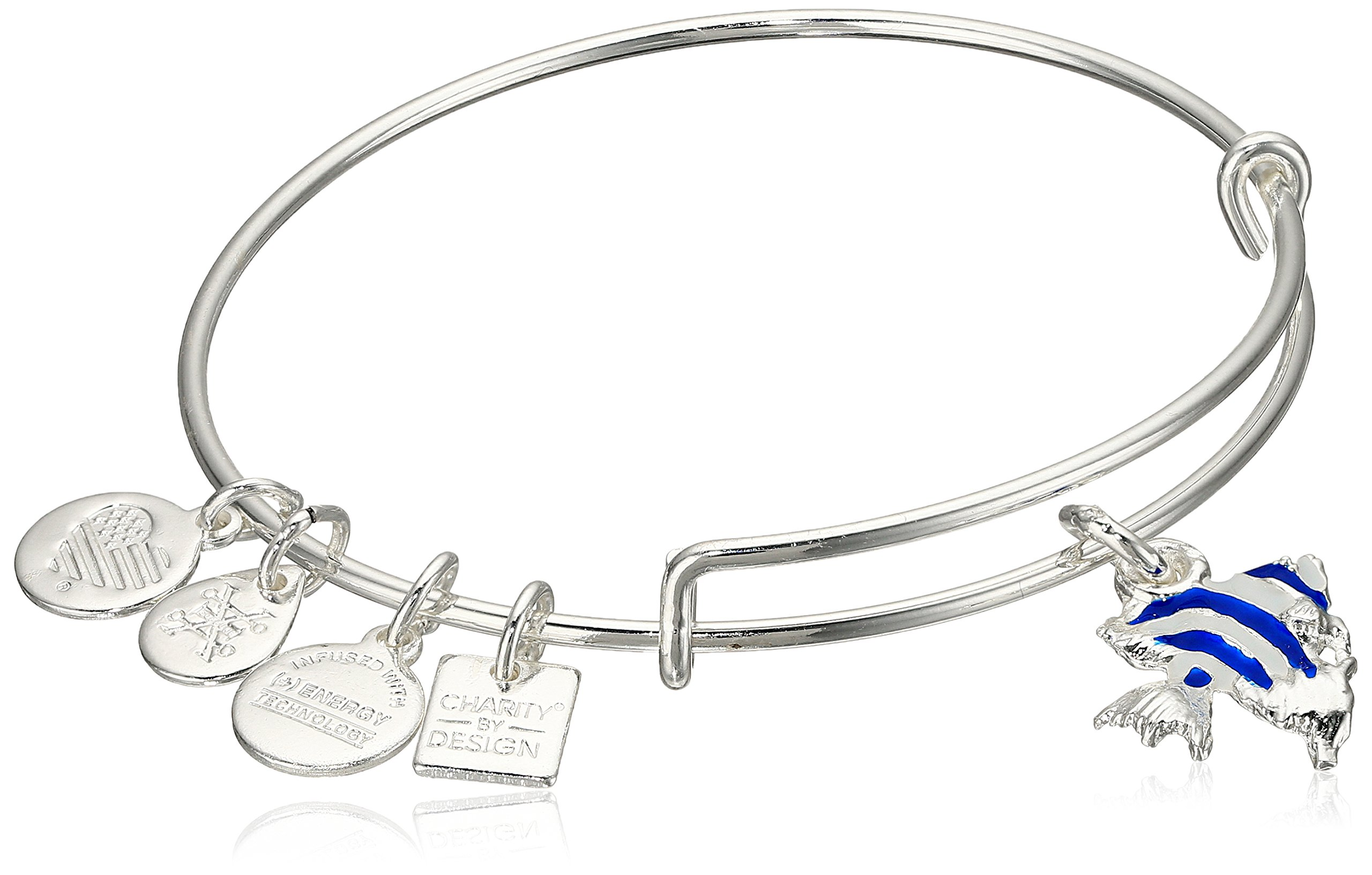 Alex and Ani Charity By Design Angel Fish Expandable Sterling Silver Bangle Bracelet