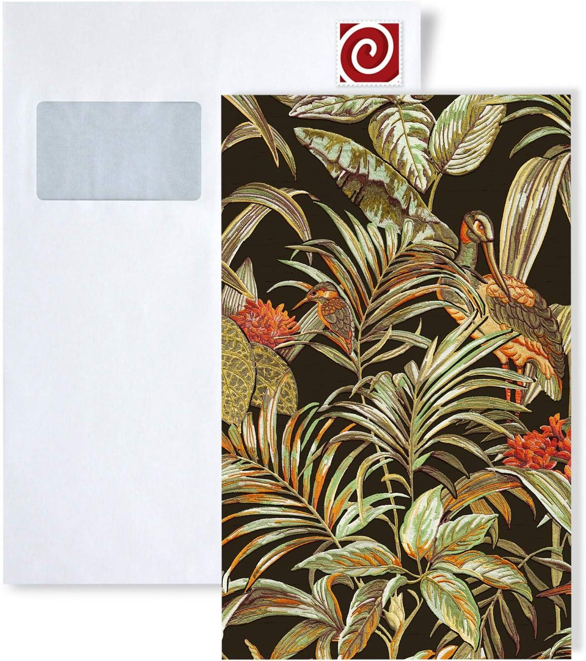 /ÉCHANTILLON de Papier peint intiss/é au format A4 1 /ÉCHANTILLON S-DE120015-DI Profhome FANCY Papier peint intiss/é motif doiseau exotique