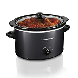Hamilton Beach 33231 Programmable Slow Cooker 3 Quart Black