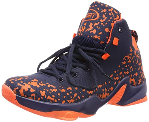 c86cacd731cb ASHION Men s Basketball Shoes Hi-Top Trainers Shoes Mixed Black Red White  Outdoor Sneaker(