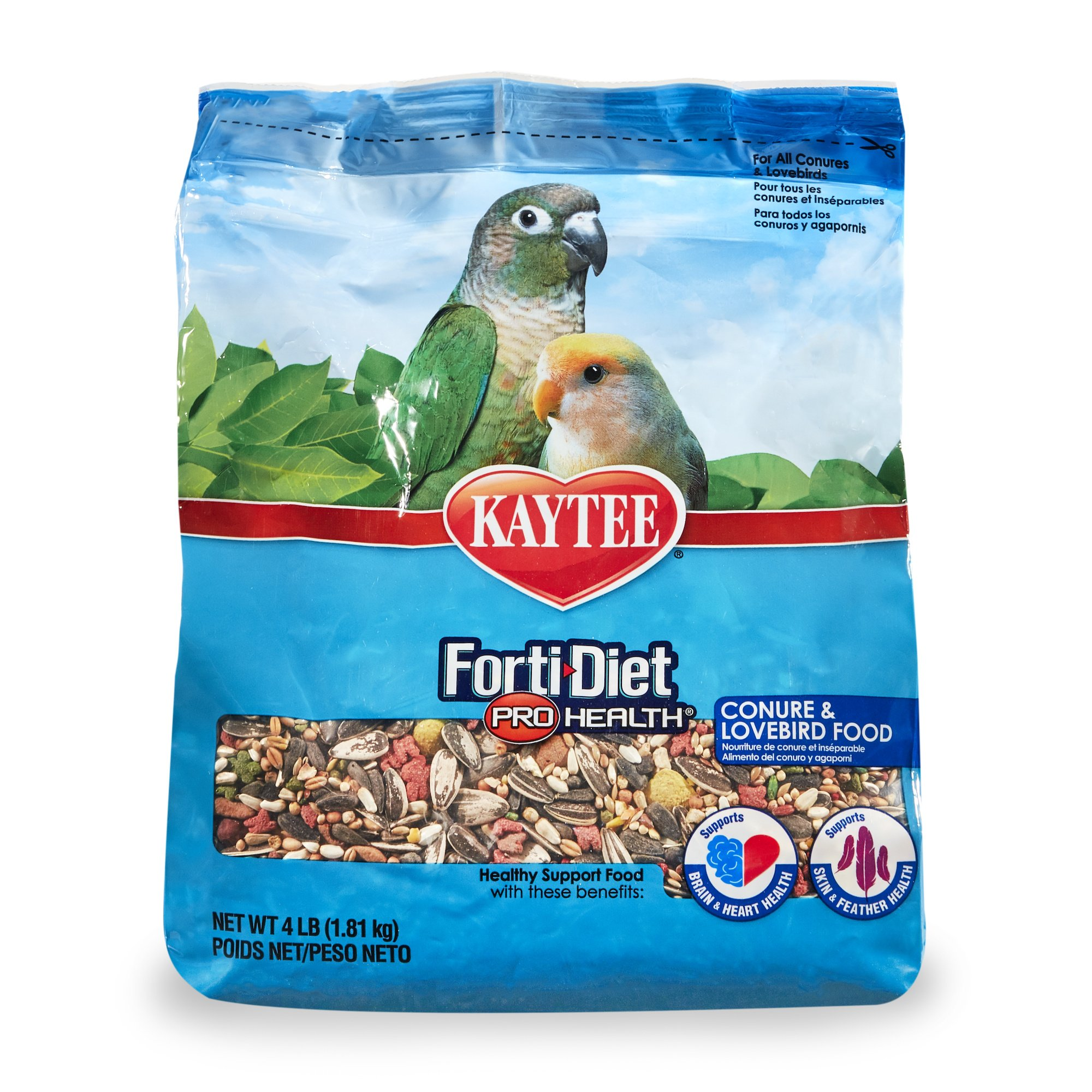 Kaytee Forti-Diet Pro Health Conure and Lovebird Food 4 lb by Kaytee