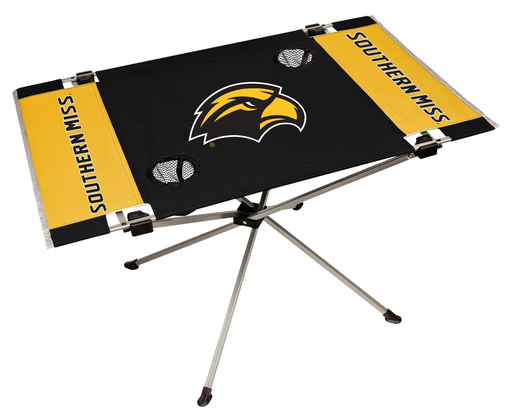 Rawlings NCAA Southern Mississippi Golden Eagles NCAA Endzone Tailgate Table, Black, 31.5'' Large x 20.7'' W x 19'' H by Rawlings