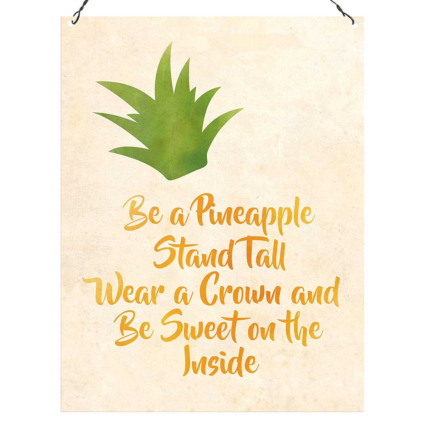 Dorothy Spring Be A Pineapple Stand Tall Inglese Targhe Metallo Placca Muro Decor 15x20cm