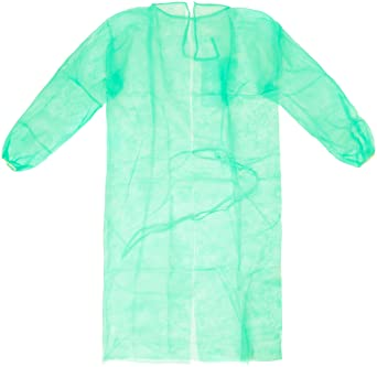 Medop 912063 Batas Desechables, 20 g, Bolsa de 10, Color Verde