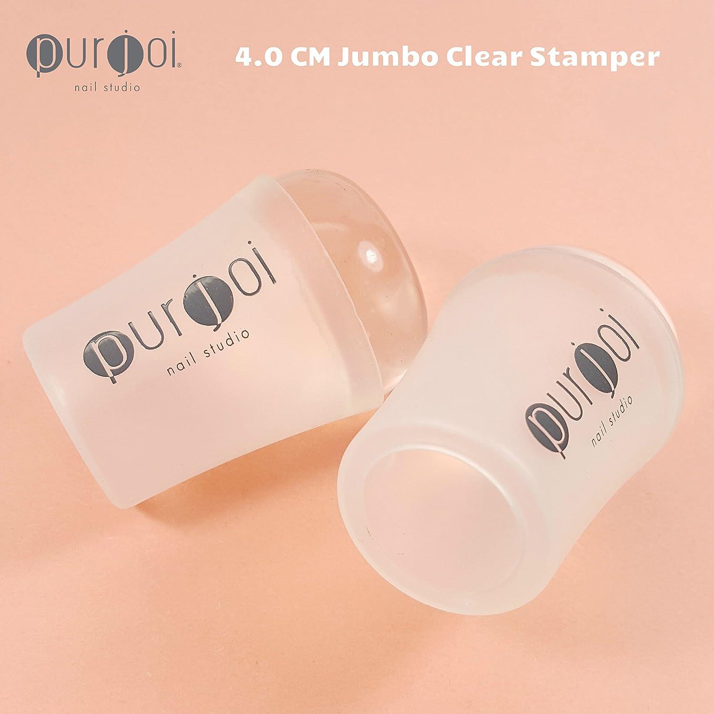 Amazon.com : Nail Art Jumbo Clear Jelly Nail Clear Nail Stamping ...