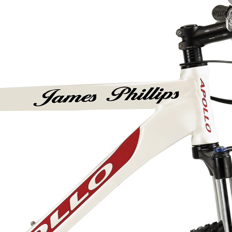 Lote de 2 pegatinas personalizadas para el cuadro de la bicicleta ...