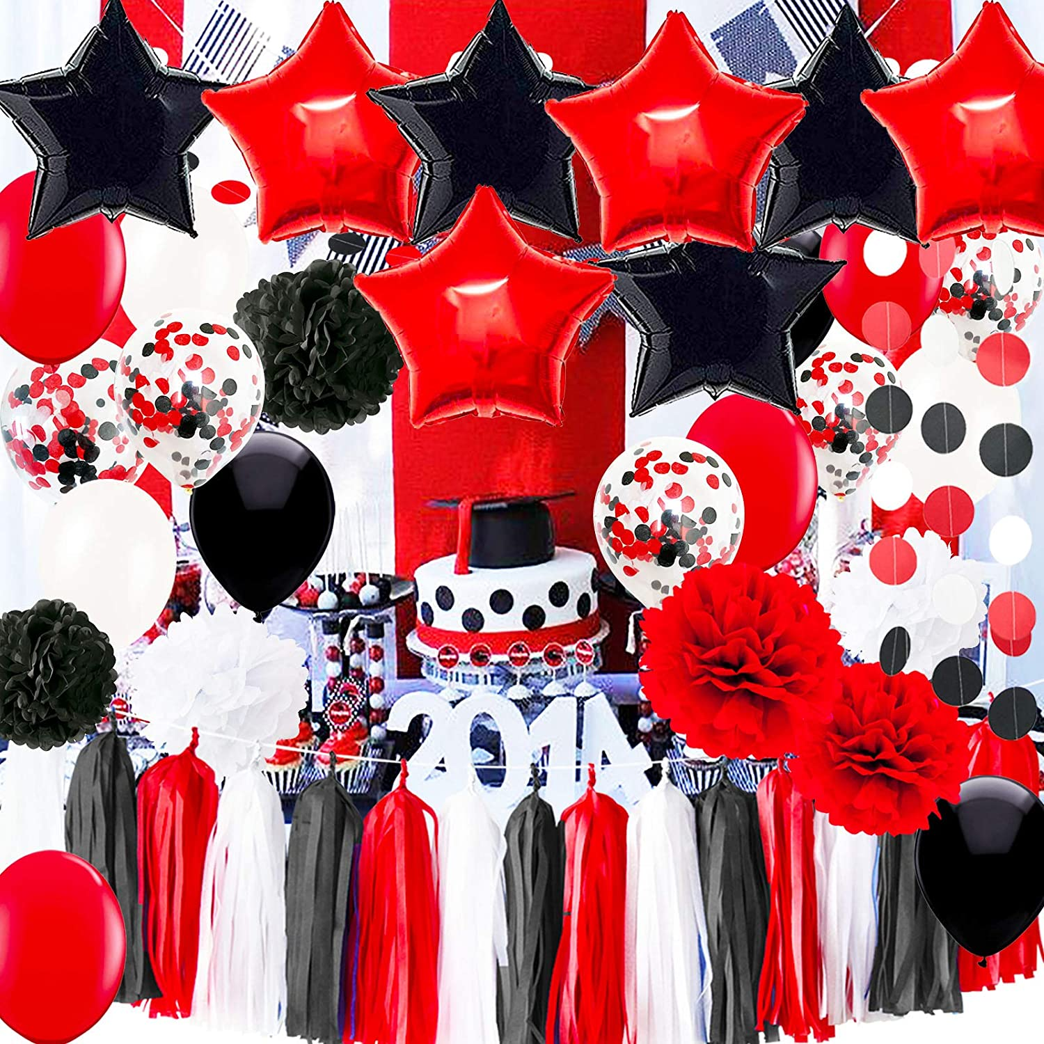 Red White And Black Decorations