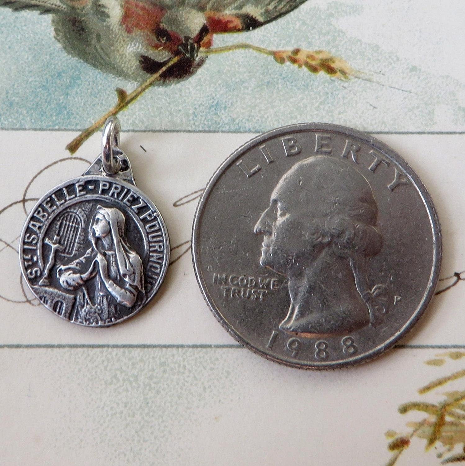 Rosa Mystica St Isabelle Medal Patron of Peace and Against Jealousy Victims of adultery