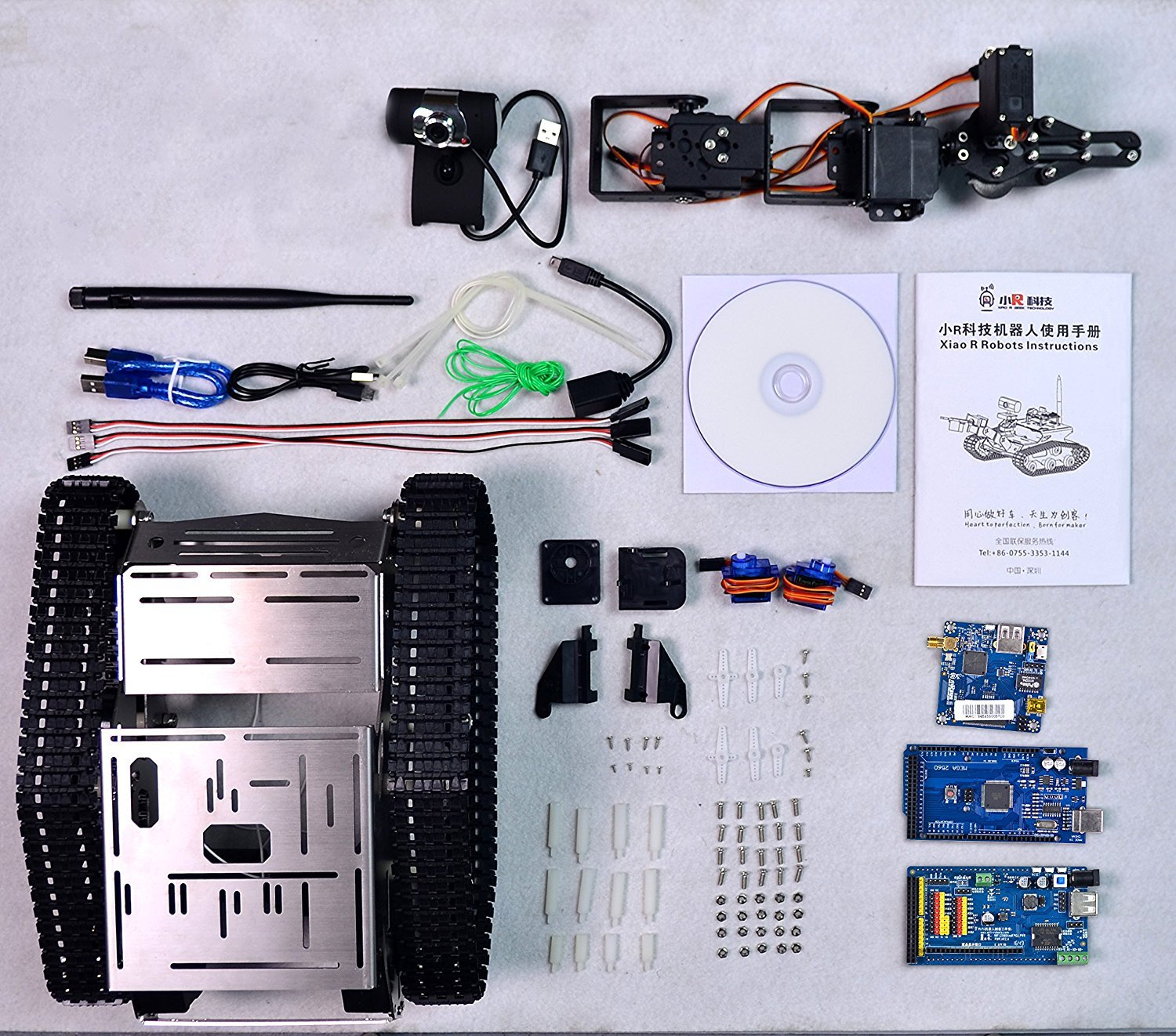 XiaoR Geek FPV Robot Car Kit with Robotic arm Hd Camera for Arduino,Utility Intelligent Tank chassis Robotics Vehicle,Smart Learning & Educational TH Robot Toys by iOS Android PC Controlled by XiaoR Geek (Image #6)