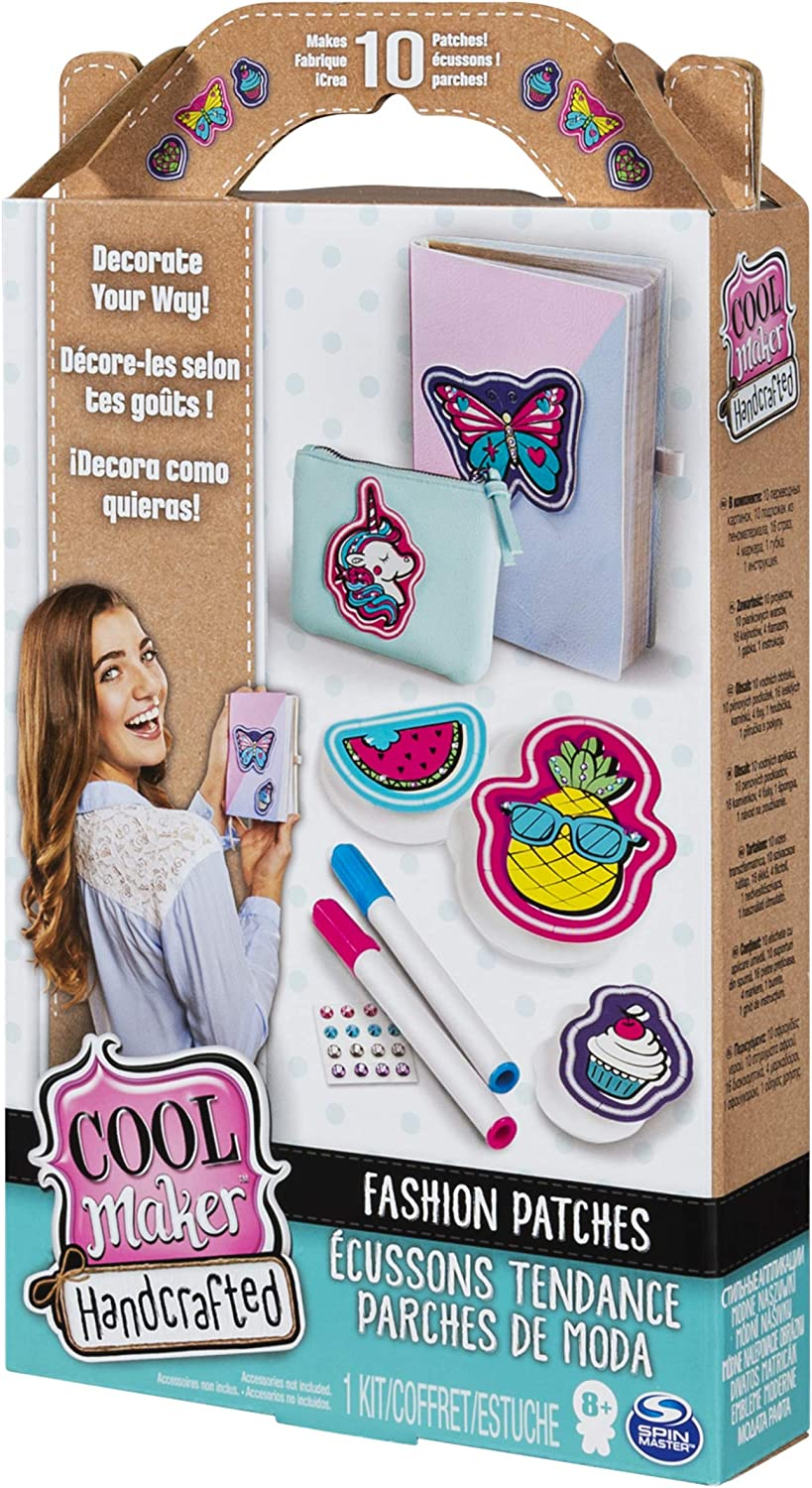 Cool Maker Makes 10 Patches and Includes 4 Makers Handcrafted Fashion Patches Activity Kit 16 Gems