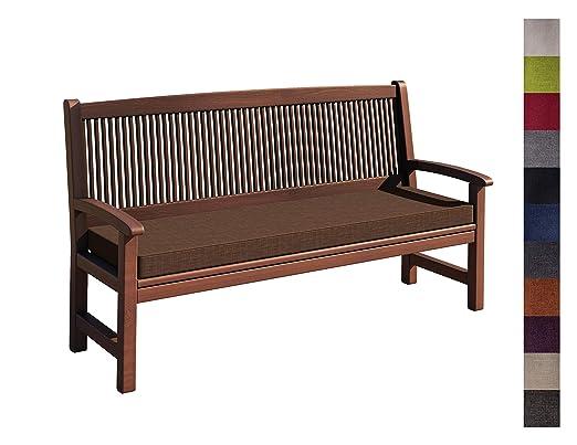 sunnypillow Bankauflage Stuhlkissen mit abnehmbarem Bezug Bankkissen Bankpolster Polsterauflage Auflage für Gartenbank viele