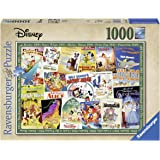 Ravensburger 19874 Disney Vintage Movie Posters 1000 Piece Puzzle for Adults, Every Piece is Unique, Softclick…