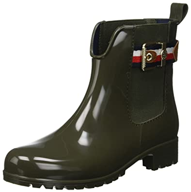 a80abba1d2f9fd Tommy Hilfiger Damen Corporate Belt Rain Boot Gummistiefel  Tommy ...
