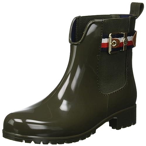 Tommy Hilfiger Corporate Belt Rain Boot, Bottes & Bottines de Pluie Femme