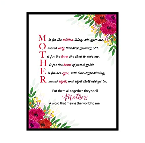 Amazon Com Mother S Day Print Mother S Day Gift Mother Poem