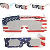 Komene Solar Eclipse Glasses CE and ISO Certified Safe Shades Viewing Spectacles for Eye Protection 5 Packs