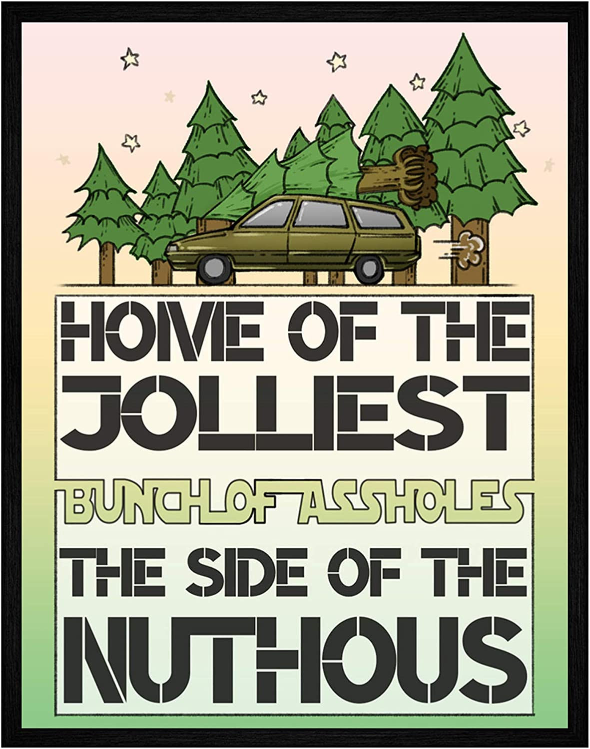 Home of the Jolliest Bunch Christmas Art Prints - 11x14 Inch Wall Art Prints Bathroom Home Christmas Decorations National Lampoon's Christmas Vacation - Unframed