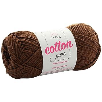 Braune Baumwolle Garn Myoma Cotton Pure Nougat Fb 0220 Baumwolle