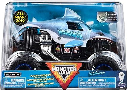 Amazon Com Monster Jam Official Megladon Monster Truck Die Cast Vehicle 1 24 Scale Toys Games