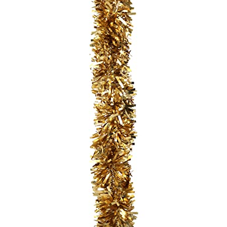 Robelli Thick Luxury MATTE Christmas Tree Tinsel Decoration Gold - 2 meters