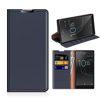online retailer 612e3 3c30f Mobesv Sony Xperia L1 Wallet Case Sony Xperia L1 Leather Case - Phone  Wallet Flip Cover - Viewing Stand - Card Holder - Dark Blue