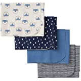 GERBER Baby Boys 4-Pack Flannel Receiving Blanket