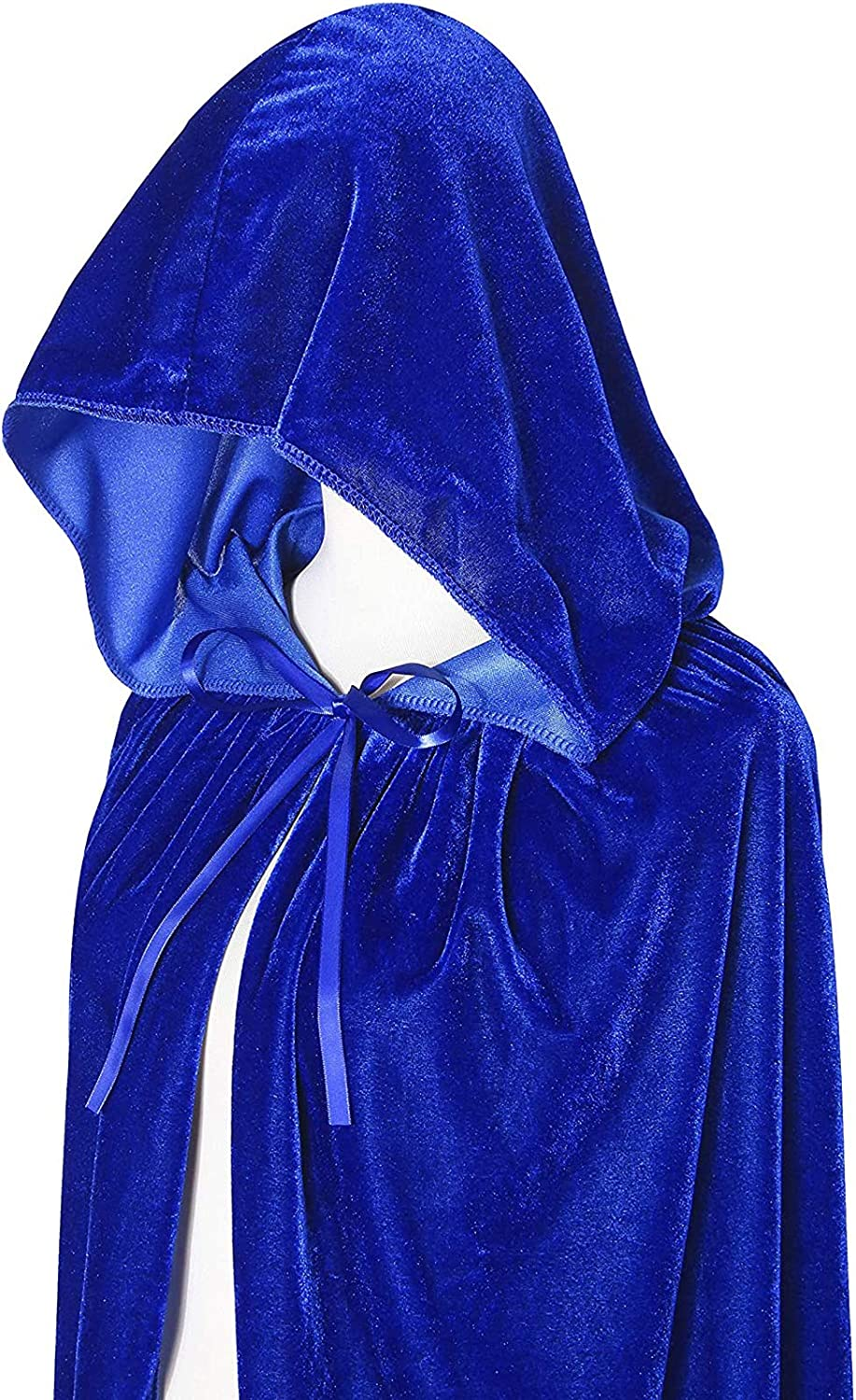 HICOSKY Hooded Cloak Cape Christmas Halloween Cosplay Costumes for Women Men