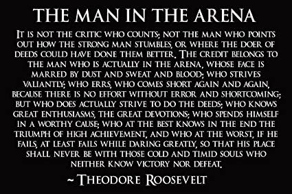 Amazon.com: Theodore Roosevelt Man In The Arena Poster Theodore