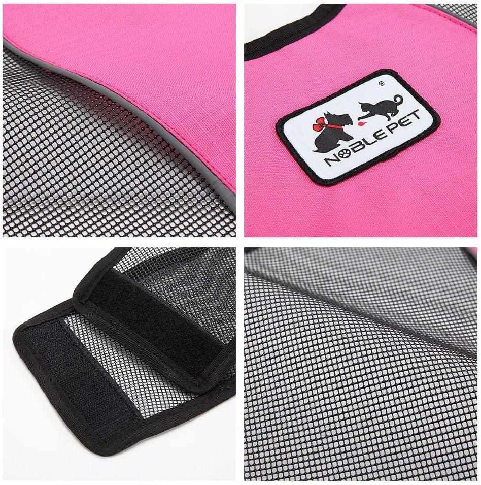 Rose Rot Blau-Yan Hundebekleidung Weste Mantel Haustier Reflektierende Sicherheitsanzug Sommer Hund Poncho Trainingsanzug Grau