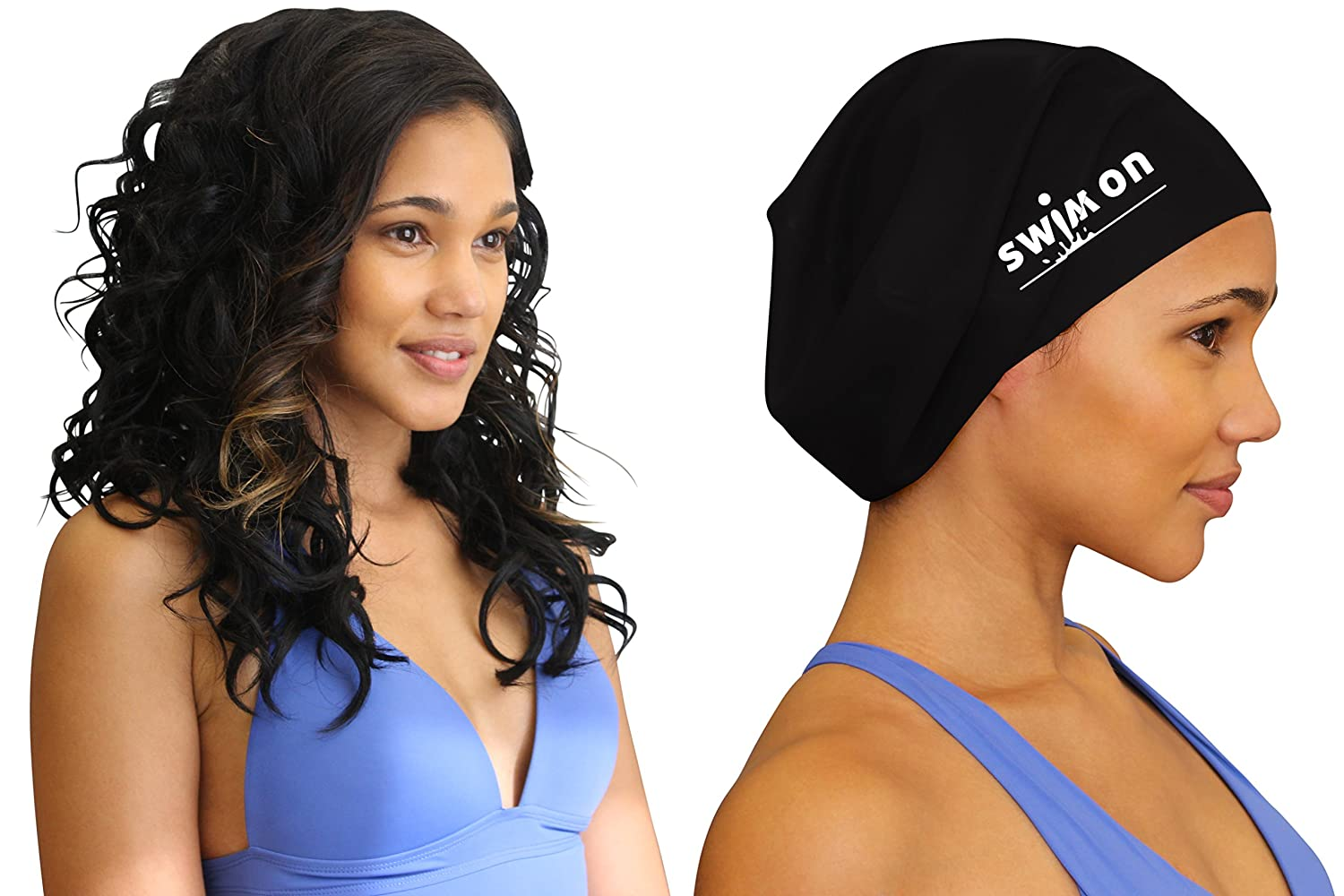 Large Swim Cap for Long, Thick, or Curly Hair by Swim On ...