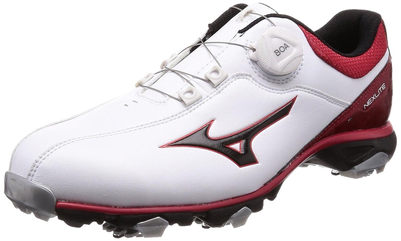 [ミズノゴルフ] ゴルフシューズ ネクスライト005 ボア メンズ B077VCRTKY 29 cm 3E ホワイト/レッド