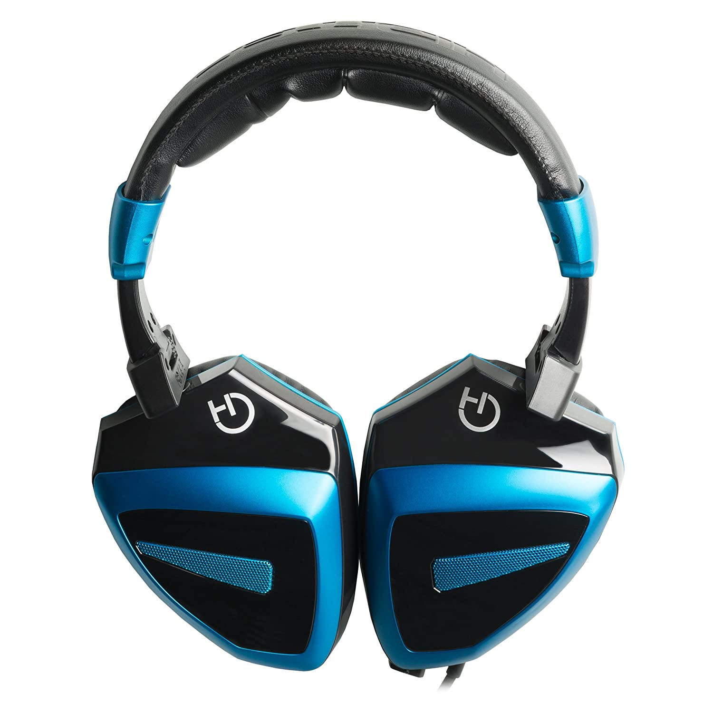 Hiditec - Auriculares HDT1 con micrófono integrado, altavoces de 40mm, multiplataforma, color azul y negro: Hiditec: Amazon.es: Informática