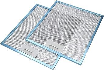 LUTH Premium Profi Parts 2x Filtro de grasa metálico de Bauknecht 480122102168 Indesit C00314158 Campana extractora: Amazon.es: Grandes electrodomésticos