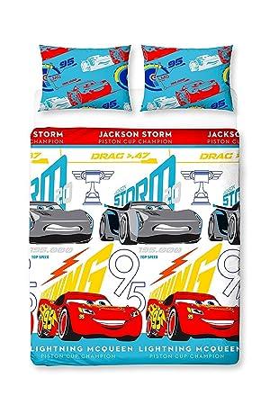 Disney Cars 3 - Parure de Lit à Motif imprimé