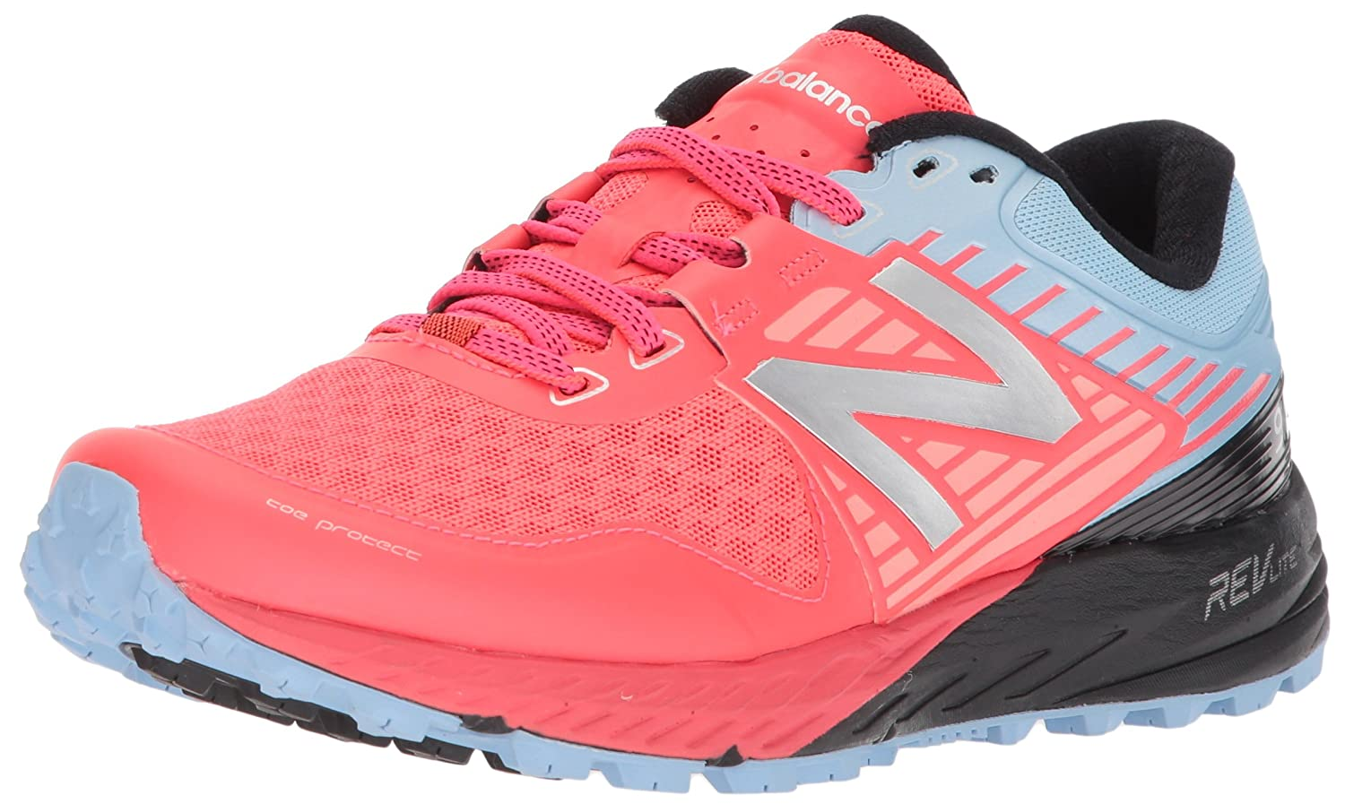 New Balance Women's 910 V4 Trail Running Shoe B06XRTX2TP 8.5 D US|Vivid Coral/Clear Sky