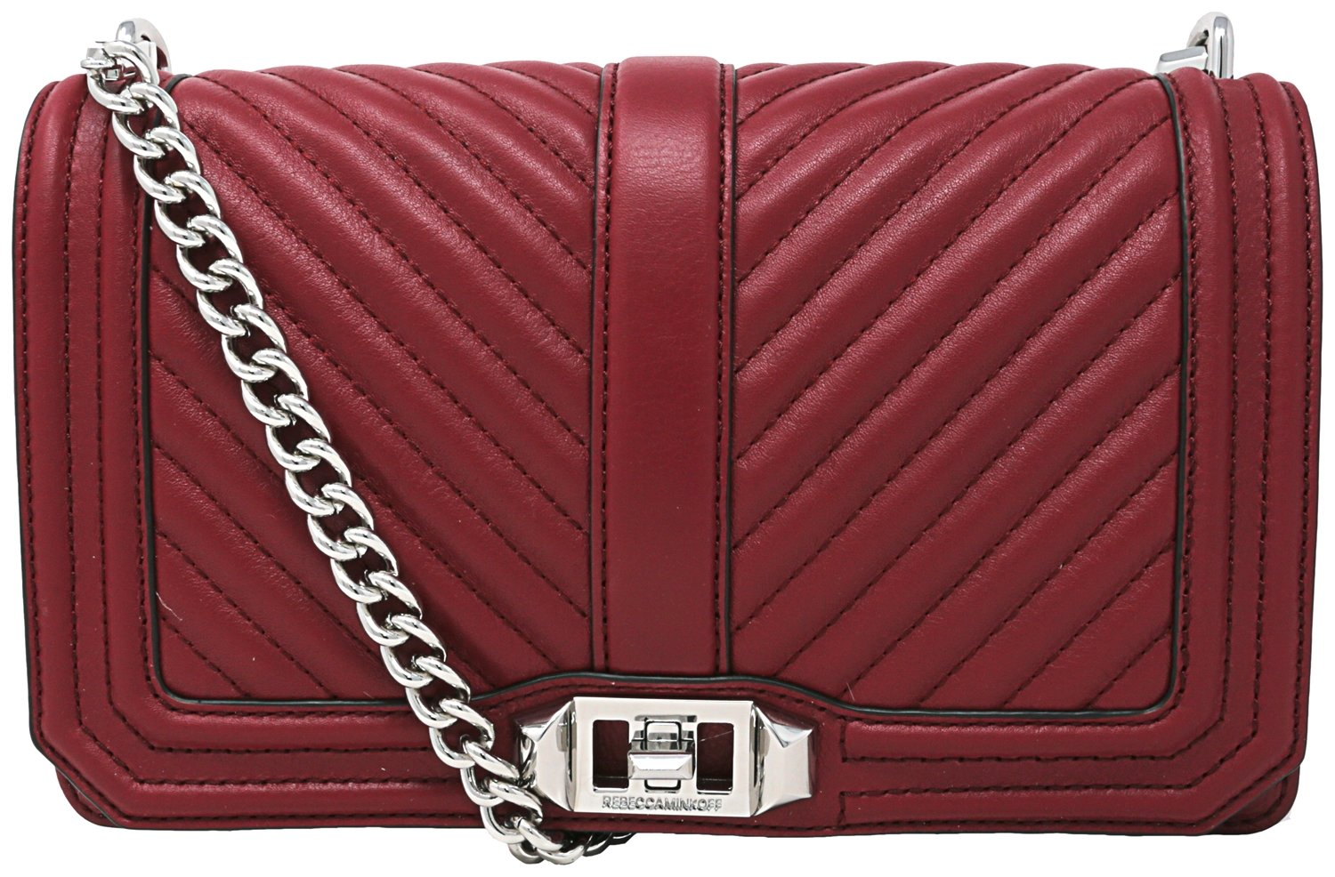 Rebecca Minkoff Chevron Quilted Love Leather Crossbody