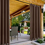 ChadMade Windproof Outdoor Curtain Both Top and