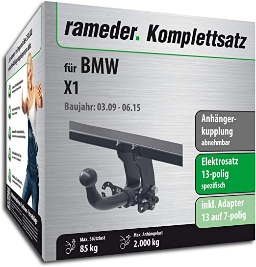 Rameder Komplettsatz Anhängerkupplung Abnehmbar 13pol Elektrik Für Bmw X1 113229 08277 1 Auto