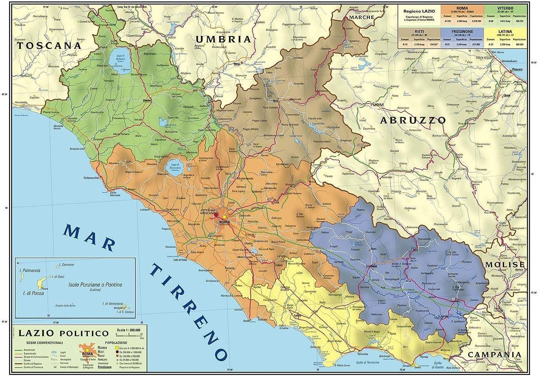 Cartina Del Molise Geografica.Carta Geografica Murale Regionale Lazio 100x140 Bifacciale Fisica E Politica Amazon It Cancelleria E Prodotti Per Ufficio
