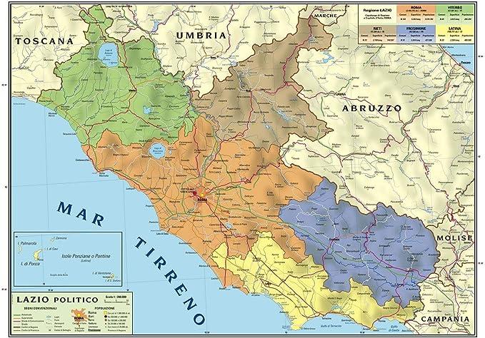 Cartina Toscana Dettagliata Da Stampare.Carta Geografica Murale Regionale Lazio 100x140 Bifacciale Fisica E Politica Amazon It Cancelleria E Prodotti Per Ufficio