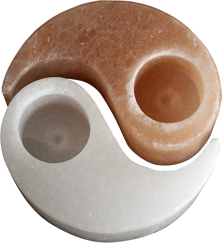 Magic Salt Ying Yang Sel de lhimalaya pour Bougie Chauffe-Plat Ionsing de gu/érison naturels