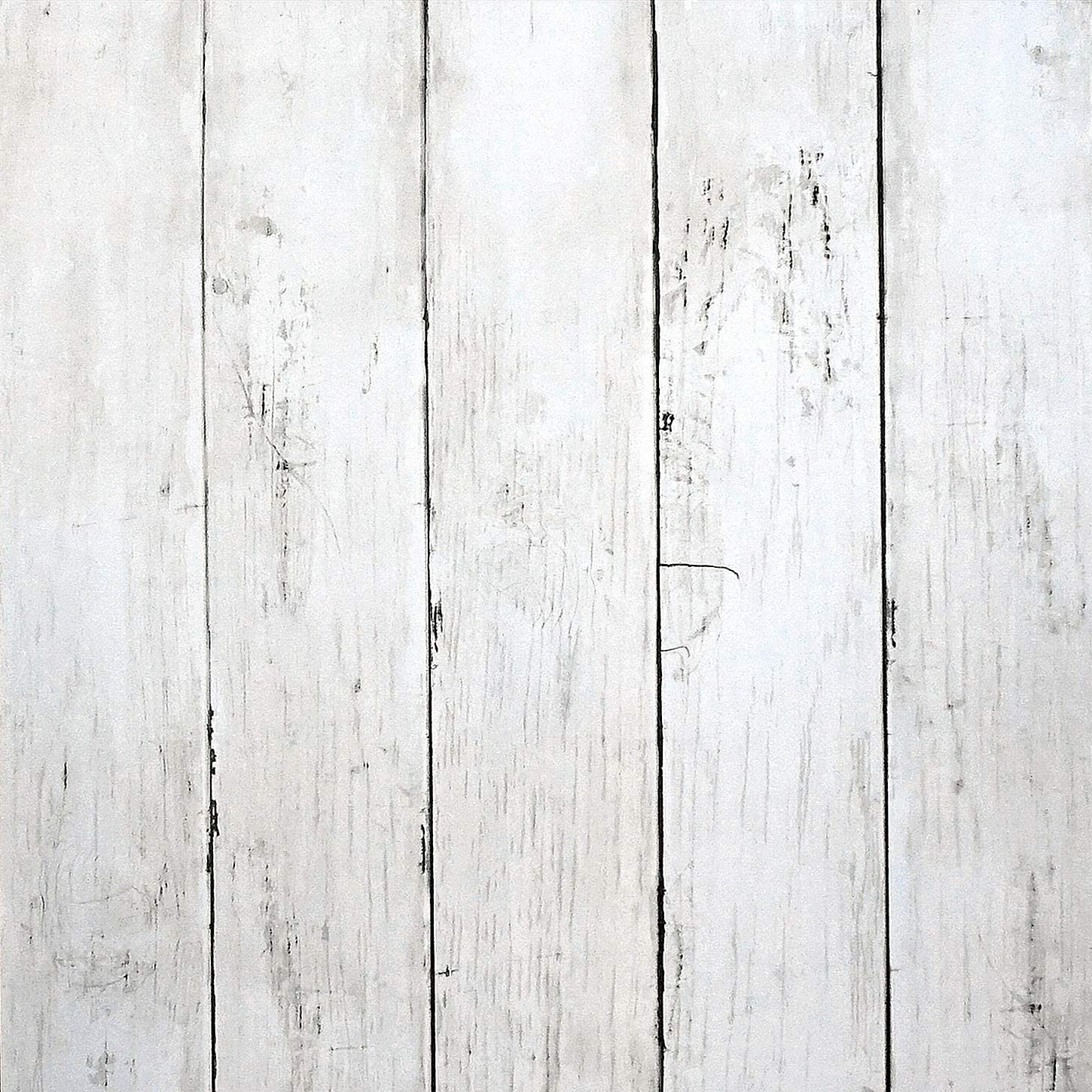 """White Wood Peel and Stick Wallpaper 197""""x17.7"""" White Wood Wallpaper White Wood Removable Vintage Wood Plank Wallpaper Self Adhesive Decorative Wall Covering Vinyl Film Shelf Drawer Liner Roll"""